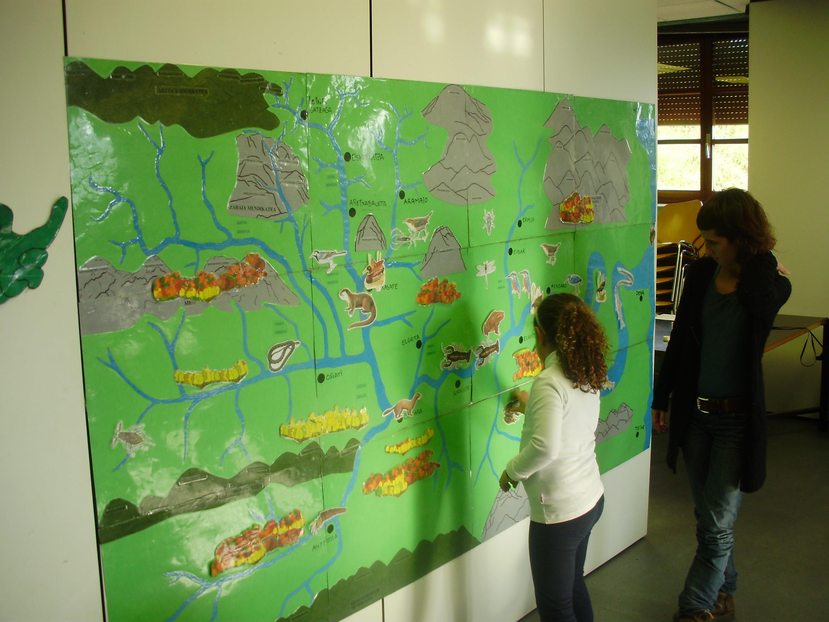 Ibaiko bizidunak ezagutzeko murala